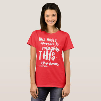 Camiseta xmas desagradável do Natal de Papai Noel das