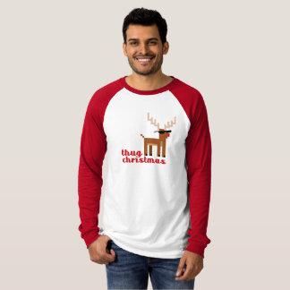 Camiseta Xmas engraçado do Natal da rena de Rudolph da vida
