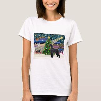 Camiseta Xmas Mágica-Schnauzer-Preto-Gigante