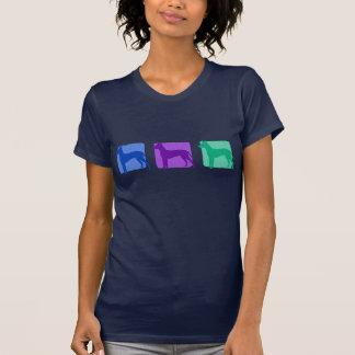 Camiseta Xoloitzcuintli colorido mostra em silhueta o