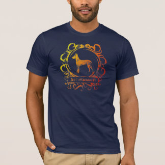 Camiseta Xoloitzcuintli resistido elegante