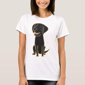 Camiseta XX- cão de filhote de cachorro preto do Retriever