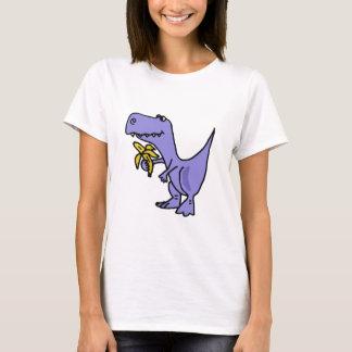 Camiseta XX- dinossauro de T-Rex que come desenhos animados