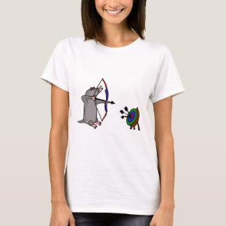 Camiseta XX- toupeira cega na competição do tiro ao arco
