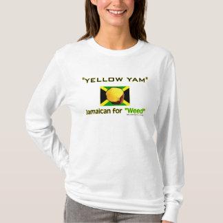 Camiseta Yam amarelo: Comida das pessoas as mais rápidas do