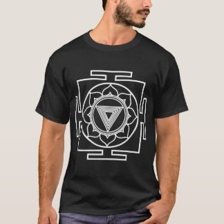 Camiseta yantra do kali branco