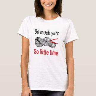 Camiseta Yarn tanto, assim que pouca hora - crochet