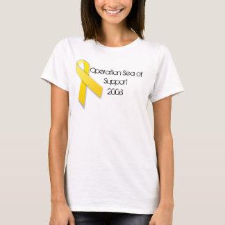 Camiseta yellowribbon, mar da operação do apoio 2008
