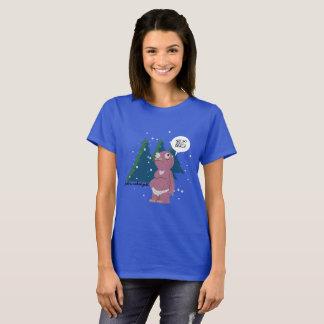 Camiseta Yeti em um t-shirt do tempo frio