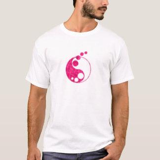 Camiseta yin cor-de-rosa yang