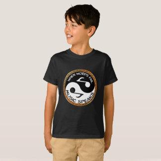 Camiseta Yin Yang com palavras da música