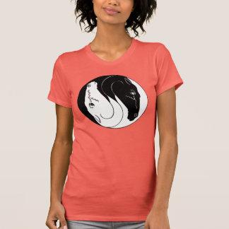 Camiseta Yin yang das cabeças de cavalo