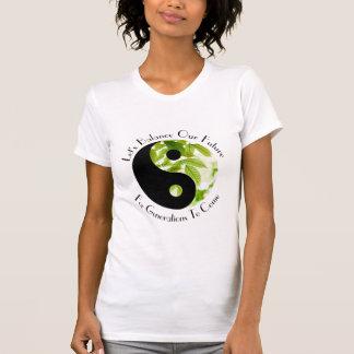 Camiseta Yin Yang - deixe-nos equilibrar nosso T futuro