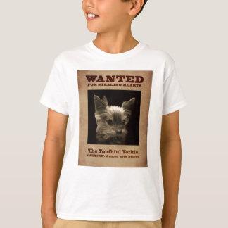 Camiseta Yorkie jovem quis o t-shirt da criança