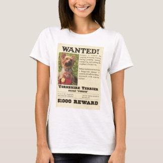 Camiseta Yorkie quis o t-shirt do poster