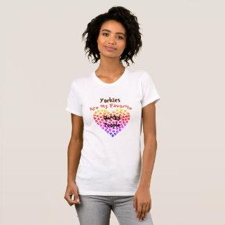 Camiseta Yorkies é minhas pessoas subtis favoritas -