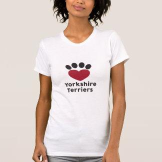 Camiseta Yorkshires terrier do amor