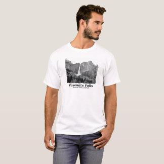 Camiseta Yosemite Falls em B&W, parque nacional de Yosemite