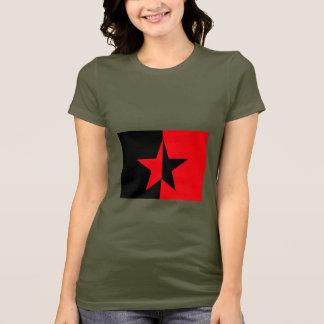 Camiseta Zapatista do verde do exército das mulheres do
