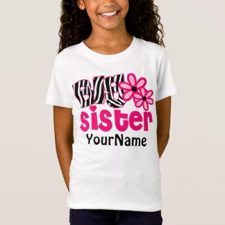 Camiseta Zebra da irmã mais velha floral