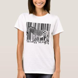 Camiseta Zebra do código de barras