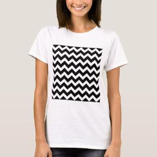 Camiseta Ziguezague artístico preto e branco