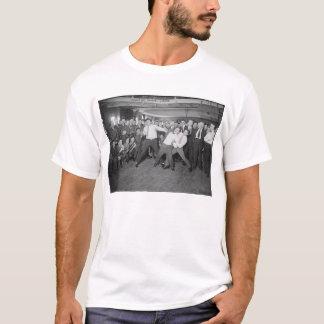 Camiseta Zombaria de Jack Dempsey que luta contra Harry