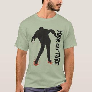 Camiseta Zombi do Dia das Bruxas+Seu texto