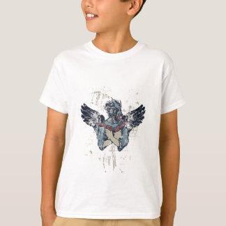 Camiseta zombi do vôo com asas