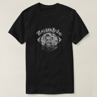 Camiseta Zombi - preto & branco desvanecidos