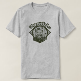 Camiseta Zombi - verde & branco desvanecidos