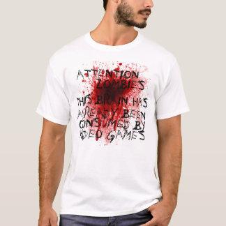 Camiseta Zombis da atenção