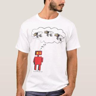 Camiseta zzzzZZ que conta carneiros do robô