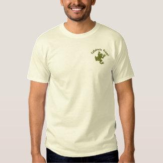 Camisetas bordadas customizáveis do sapo