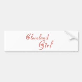 Camisetas da menina de Cleveland Adesivo
