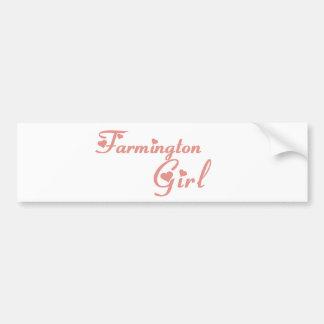 Camisetas da menina de Farmington Adesivos