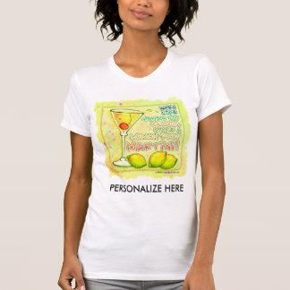 Camisetas de Twofer - gota de limão Martini