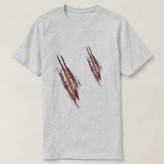 Camisetas destruídas do homem-lobo ataque mau