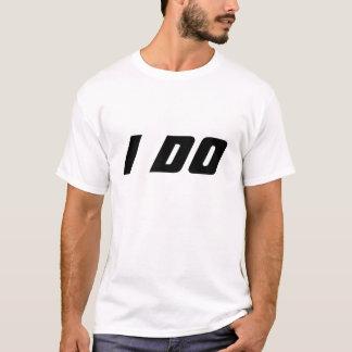 Camisetas do casamento