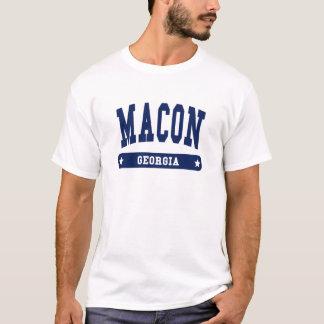 Camisetas do estilo da faculdade de Macon Geórgia