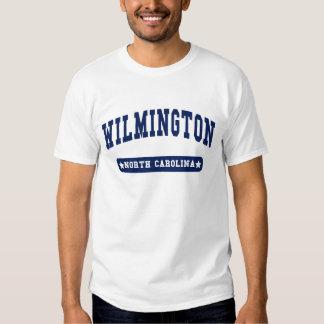 Camisetas do estilo da faculdade de Wilmington