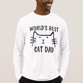 Camisetas dos t-shirt do PAI do CAT do MUNDO as
