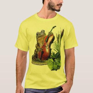 Camisetas engraçadas com o sapo que joga o