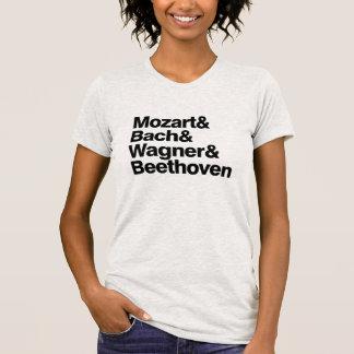 Camisetas engraçadas da banda dos compositores da