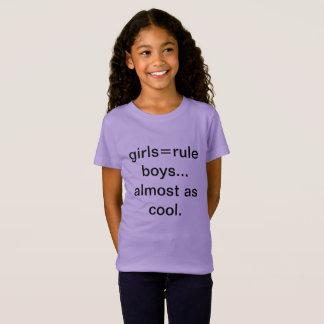 Camisetas engraçadas da regra das meninas
