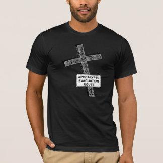Camisetas engraçadas do cristão da evacuação do