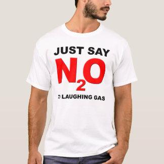 Camisetas engraçadas do óxido nitroso de gás