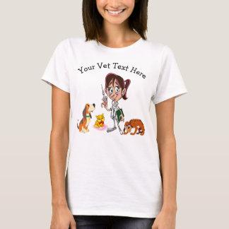Camisetas engraçadas do veterinário para ela com