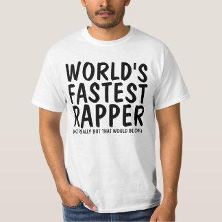 Camisetas engraçadas, o rapper o mais rápido do