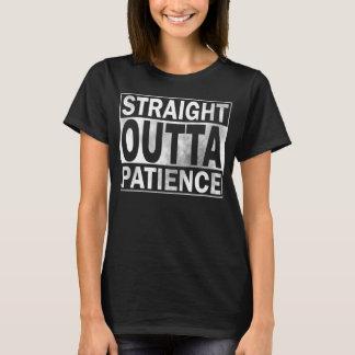 Camisetas engraçadas, paciência reta de Outta